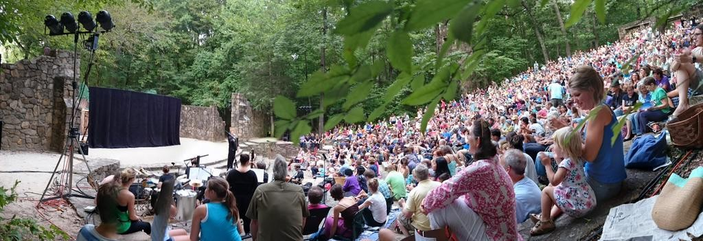 Paperhand audience at The Forest Theatre